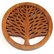 Tree of Life Shesham Trivet