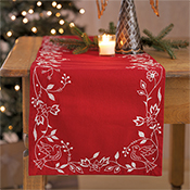 Four Dove Table Runner