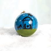 Moonlight Nativity Ornament