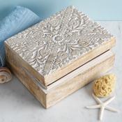 Floral Mango Wood Box