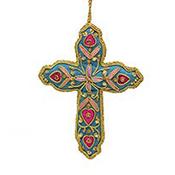 Bright Zari Cross Ornament