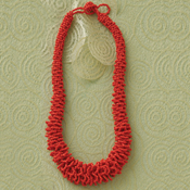 Vermillion Seed Bead Necklace
