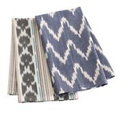 Blue Family Ikat Towels