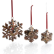 Snowflakes Trio Ornaments