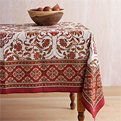 Red & Gold Royal Jaipur Tablecloth