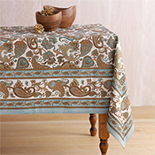 Teal & Gold Royal Jaipur Tablecloth