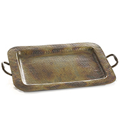 Hammered Iron Handled Tray