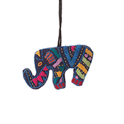 Blue Elephant Ornament