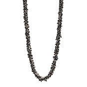 Black & Silver Cluster Necklace