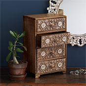 Floral Tabletop Chest
