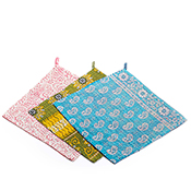 Set of 3 Kantha Dishcloths