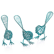 Teal Freestanding Birdies Set