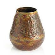 Short Rounded Hammered Ironwork Vase
