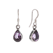 Bright Amethyst Drop Earrings