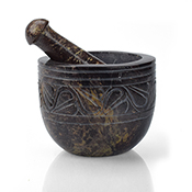 Stone-Carved Mortar & Pestle
