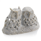 Double-Carved Owl Family