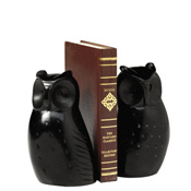 Black Owl Bookends