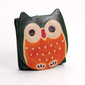 Owl Leather Coin Purse