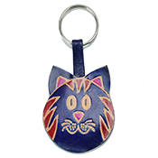 Blue Cat Keychain