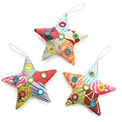 Patchwork Shisha Star Ornament Set