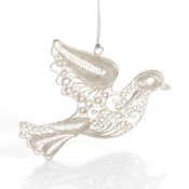 filigree dove ornament
