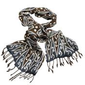 Batik Leaf Rayon Scarf