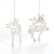 filigree reindeer ornaments