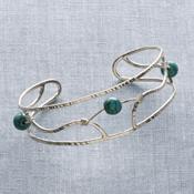 Turquoise Bead Cuff