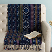 troso stripe ikat throw