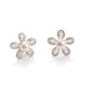 Filigree Flower Post Earrings
