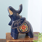 Blue Elephant Batik Animal
