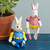Marionette-Style Bunny Ornaments