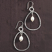 Enchanted Pearl Hoop Earrings