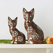 Parent & Child Cat Figures