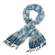 Blue Medallion Scarf