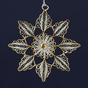 Bright Flower Filigree Ornament
