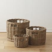 Rattan Basket Set