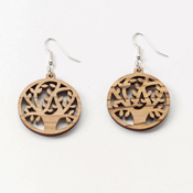 Olivewood Tree of Life Earrings