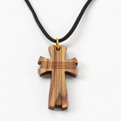 Scored Cross Necklace