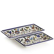 Set of 2 Appetizer Trays