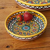 West Bank Medium Yellow Floral Bowl