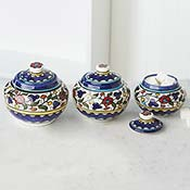 West Bank Set of 3 Small Canisters