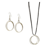 Simple Hoops Jewelry Set