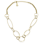 Oval Loops Brass Necklace