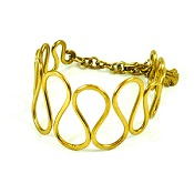 Oval Loops Brass Bracelet