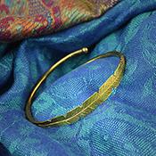 brass leaf cuff alt