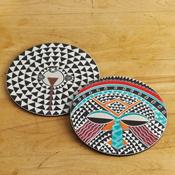 African Mask Trivets