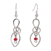 Double Knotted Loop Earrings