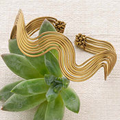 Brass Ripple Cuff