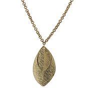 Double Leaf Long Necklace